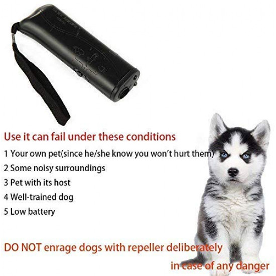 OYEFLY Handheld Dog Repellent Trainer, 3 in 1 Anti Barking Device with LED Flashlight, Ultrasonic Dog Deterrent and Bark Stopper Dog Trainer Devices - Training Tool/Stop Barking