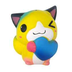 OYEFLY Christmas Cat Squishies Slow Rising Kawaii Scented Soft Galaxy Squishies Toys Fun Collection Stress Relief Anxiety Relief Sweet for Kids Party Toys Gift