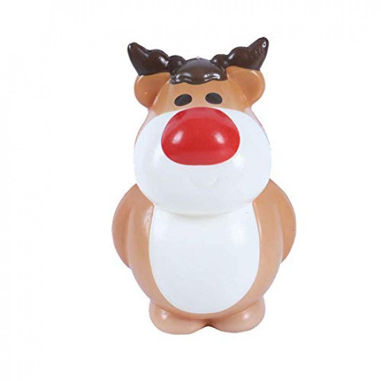 OYEFLY Christmas Squishy, Slow Rising Santa Elk Snowman Squishies - Kawaii Soft Squishies Adults Slow Rising Squeeze Hand Wrist Stress Relief Toys (Santa Claus)