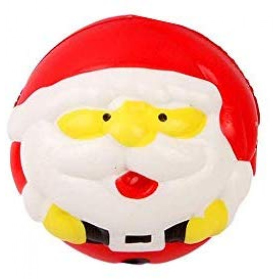 OYEFLY Christmas Toys Kawaii Cute Lovely Santa Claus/Snowman Ball Squishies Slow Rising Toys Doll Stress Relief Toy Little Santa for Kids Party Toys Gift