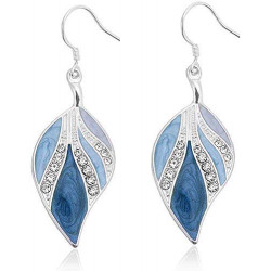 OYEFLY Dangle Earrings Sterling Silver Drop Earring Handmade Bohemian Teardrop Earrings (Silver,style1)