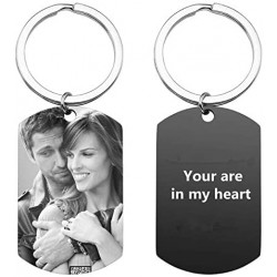 Personalized Custom Calendar Name Photo Text Picture Dog Tag Keychain Couple Keychain