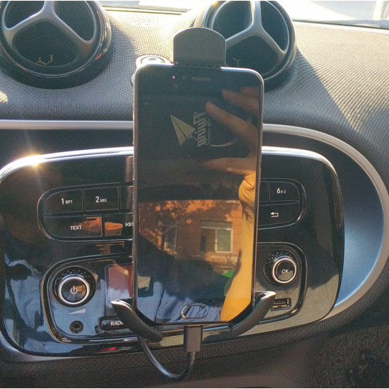 Smart 453 Mobile Phone Holder, Car Phone Holder Air Vent Mini Mobile Phone Holder With Fixed 360 ° Rotation Car Holder Navigation Charging Holder Second Generation Holder for Smart ForTwo / ForFou